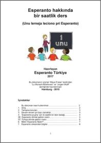 TR 1-Esperanto hakkinda bir saatlik ders - kapak